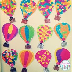 Cute hot air balloon craft for kids that goes great with the Dr. Seuss book Oh, … Cute hot air balloon craft for kids that goes great with the Dr. Seuss book Oh, the places you'll go. Fun for a spring kids craft. Spring Crafts For Kids, Projects For Kids, Art For Kids, Art Projects, Kindergarten Art, Preschool Crafts, Kids Crafts, Sock Crafts, Hot Air Balloon Craft For Kids