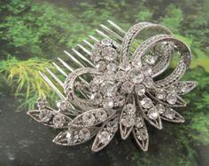 Wedding comb bridal hair comb wedding headpiece by Amoretto