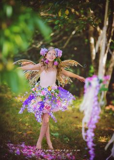 Little Flower Fairy - Seattle Photographer - Fairyography Fairy Costume For Girl, Girl Costumes, Swing Photography, Children Photography, Fairy Photoshoot, Mother Daughter Photography, Fairies Photos, Seattle Photographers, Princess Photo