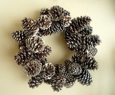 I am doing this. The girls have been saving the million pinecones from our million trees. I am so excited to make one.