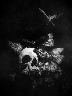 Acrylic Skull Painting by Tony Rose Tatoo Crane, Tattoo Papillon, Skull Moth, Skull Painting, Skull Artwork, Painting Tattoo, Skeleton Art, Skull Wallpaper, Skull Art