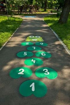 Playground Painting Ideas - Preschool - Aluno On - Education Preschool Playground, Playground Games, Playground Flooring, Playground Design, Outdoor Playground, Preschool Activities, Kindergarten Worksheets, Outdoor Classroom, Classroom Decor