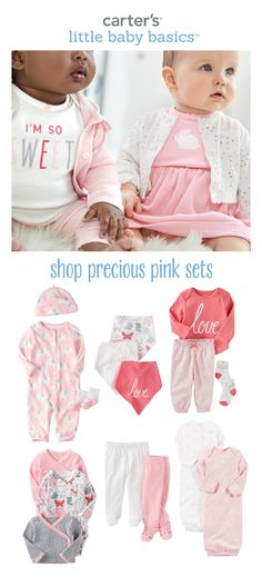 Shop sweet babysoft sets in pretty pink! Baby will love all the special details that make every change easy.