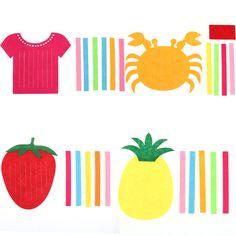 Dzieci DIY Splot Knitting Puzzle Toy Kratę Rzemieślnicze Kreatywne Zabawki Owoców Ananasa Truskawka Handwork Krab Wcześnie Educatioanal Prezent