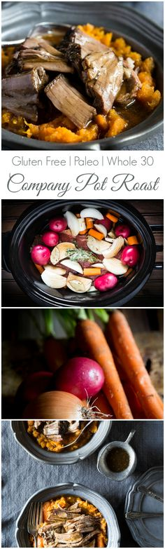 This Company Pot Roast is the one of the BEST I've ever tasted! It's so easy to make and the slow cooker does all the work for you! | gluten free | paleo | whole 30 |