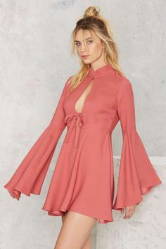 Nasty Gal Fool For You Bell Sleeve Dress - Valentine's Day | Valentine's Day | Do East | Best Sellers | Fit-n-Flare | Dresses