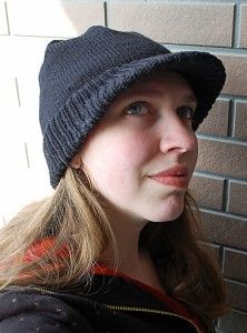 Free knitting pattern for Appi Slopes Hat with brim and bill