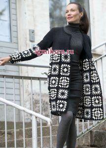 Granny sq lg jacket crochet mimuu outline video links  mimuu.com/hanim-dilendi-bey-begendi-hirka-yapimi/