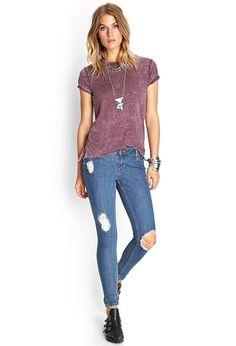 Distressed Denim Skinny Jeans | FOREVER21 #SummerForever #Denim
