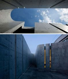 Place of light modern site poured concrete home Contemporary Architecture, Architecture Details, Louis Kahn, Stone Facade, Poured Concrete, Spanish House, French Country House, Country Estate, Window Ideas