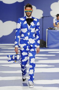Dress up day. haha, maybe I will this with a blue t-shirt. Blue T, Blue And White, Crazy Suits, Derby Outfits, Going To Rain, Black Books, The Fault In Our Stars, Pink Sky, Wedding Suits