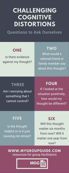 Challenging Cognitive Distortions: 6 Questions to Ask Yourself Psychologie Cognitive, Cognitive Distortions, Mental Health Counseling, Mental Health Therapy, Mental Health Resources, Mental Health Questions, Mental Health In Schools, Mental Health Help, Mental Health Journal