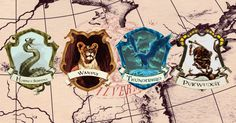 these are the american Hogwarts (Ilvermorny) houses. Comment which house ur. I got into Thunderbird and I'm a Hufflepuff.