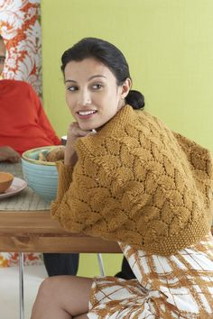 Easy Lace Shrug Pattern (Knit)