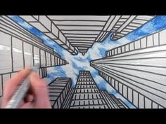 How to Draw a City with Dramatic Perspective: Step by Step - YouTube