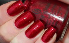 China Glaze Ruby Pumps:This is one of the best colours from China Glaze.