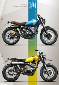 Racing Cafè: Cafè Racer Concepts - Yamaha SR 500 Scrambler by Holographic Hammer Tracker Motorcycle, Cafe Racer Motorcycle, Moto Bike, Motorcycle Design, Motorcycle Cake, Motorcycle Jeans, Motorcycle Exhaust, Motorcycle Camping, Camping Gear