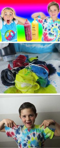 Tie Dye T Shirt | Easy Summer Arts and Crafts for Kids Fun