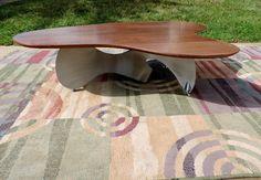 COFFEE TABLE SOLID WALNUT WOOD GARRY ZAYON MID CENTURY DANISH MODERN EAMES STYLE #MidCenturyModernstyle #GarryZayon