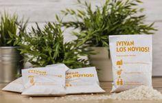Bolsitas de arroz para bodas con instrucciones. Muy divertidas!