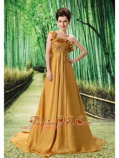 One Shoulder Embroidery Decorate Bust Chiffon Watteau Train 2013 Prom / Evening Dress- $148.49  http://www.fashionos.com/   2013 discount prom cocktail dress | elegant 2013 2014 new prom cocktail dress | prom dress for christmas | 2013 2014 prom cocktail dresses | 2014 2015 prom short cocktail dresses |