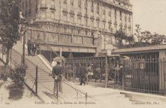 Le Métropolitain du Paris d'antan- La station du Métropolitain à Passy, un brin plus chic...