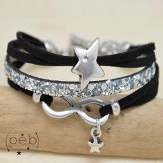 Bracelet DIANE infini noir