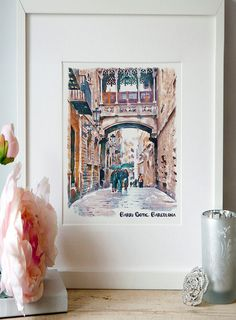 Your place to buy and sell all things handmade Printing Services, Online Printing, Art Aquarelle, International Paper Sizes, Small Shops, Art Crafts, Custom Framing, Photo Art, Postcards