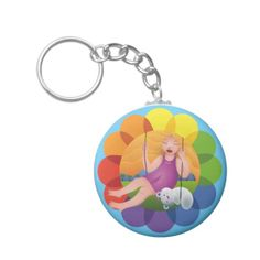 Hermosa chica en columpio con su oso. Girl and her bear. Producto disponible en tienda Zazzle. Product available in Zazzle store. Regalos, Gifts. Link to product: http://www.zazzle.com/hermosa_chica_en_columpio_con_su_oso_basic_round_button_keychain-146815731890664681?CMPN=shareicon&lang=en&social=true&rf=238167879144476949 #llavero #KeyChain