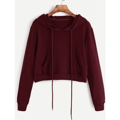 Burgundy Pullovers Plain Hoodie Long Sleeve Cotton Blends Fabric has some stretch Casual Spring Sweatshirts, Size Available: S,M,L,XL Sleeve Length(cm): S:55cm…