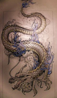 Image result for small japanese style dragon tattoo