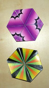 Hexaflexagon Templates - Making three- and six-faced hexaflexagons