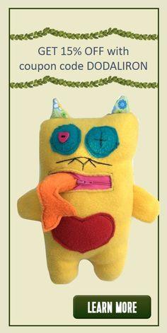 Handmade Soft Fabric Dolls for Girls & Boys. Get 15% off using coupon code DODALIRON