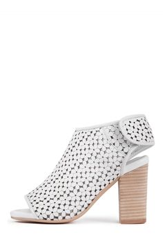 Jeffrey Campbell Shoes QUEBEC-2 Shop All in White Daisy Cut