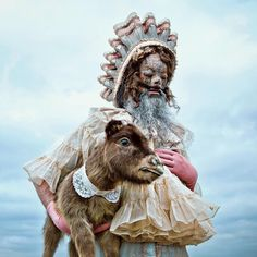 """""""Mothmeister"""" is the moniker of the duo behind surreal, fantastical, and unsettling portraits of lonesome clowns and other creatures across varying backdrops. They call their fictional universe Wou…"""