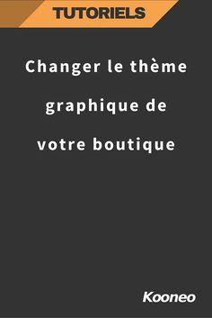 Changer le thème graphique de votre boutique : http://help.kooneo.com/article/98-changer-le-theme-graphique-de-votre-webshop