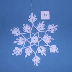 PDF Patterns for 5 Crocheted Snowflakes set 9