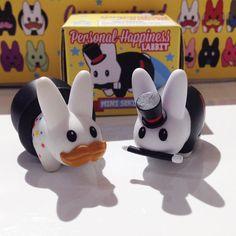 Happy news  Personal Happiness Labbit is back in stock!! #labbit #kidrobot #happylabbit #happy #cute #kawaii #art #toy #collectible #arttoy #vinyltoy #designertoy #mindzai #markham #toronto by mindzai