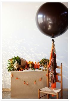 pretty fall colors + kraft paper #colorfulfall #pinparty