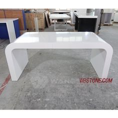 White Desk Office, Office Computer Desk, Small Drawers, Desk With Drawers, Reception Counter, Artificial Stone, Perfect Curves, Solid Surface, Can Design
