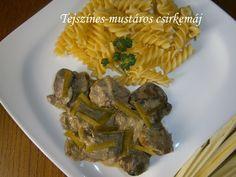 Hankka: Tejszínes-mustáros csirkemáj Meat Recipes, Asparagus, Vegetables, Food, Studs, Vegetable Recipes, Eten, Veggie Food, Meals