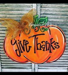 BLANK unfinished Pumpkin shape Wood Cut Out Door Hanger - Lilly is Love Halloween Door Hangers, Fall Door Hangers, Burlap Door Hangers, Fall Crafts, Holiday Crafts, Halloween Crafts, Fall Wood Projects, Wooden Door Signs, Wooden Pumpkins