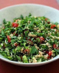 Low FODMAP Vegetarian Recipe and Gluten Free Recipe - Quinoa Tabbouleh   http://www.ibscuro.com/low_fodmap_vegetarian_recipe_quinoa_tabbouleh.html