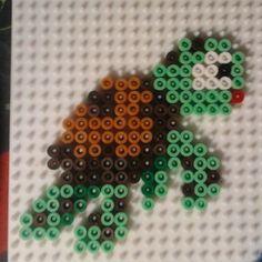 Turtle Finding Nemo perler beads by jennohjenn