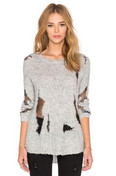 Generation Love Ezra Boucle Sweater Knit in Grey