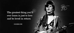 After everything he was going through, after this crazy life he lived, after so many characters and after so much of sex, drugs and glam rock, David leaves a message like this 💫 David Bowie Quotes, Favorite Quotes, Best Quotes, Character Qualities, Struggle Is Real, Happy Quotes, Happiness Quotes, Crazy Life, Sex And Love