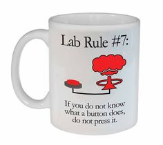 Lab Rule 7 Funny Science Chemistry ceramic by NeuronsNotIncluded