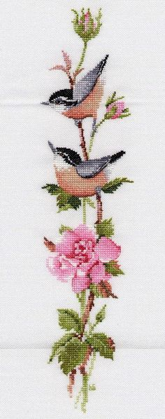 Poppies Cross Stitch Kit from Classic Embroidery Cross Stitch Bird, Cross Stitch Borders, Cross Stitch Flowers, Counted Cross Stitch Patterns, Cross Stitch Charts, Cross Stitch Designs, Cross Stitching, Cross Stitch Embroidery, Hand Embroidery Designs