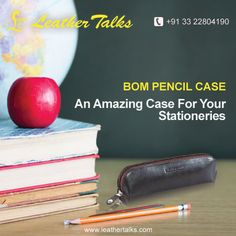 Bom Pencil case made of pure leather has enough capacity to store all your pens, pencils and other study essentials.Crafted with sturdy leather this case is built to last for years. #browncase #leatherpencilcase http://leathertalks.com/product/bom-pencil-case/