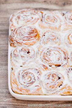 Die perfekten Cinnamon Rolls, Original amerikanische Zimtschnecken | http://www.backenmachtgluecklich.de